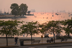Sunset Haze 🌅 Vancouver, BC (Michael Thornquist) Tags: falsecreek englishbay sunsetbeachpark seawall lifeguardboat benches vanierpark elsjepoint kitsilano kitspoint cargoship containership myportcity sup standupaddleboard paddleboard boats sailboats ilovevan vancouver britishcolumbia dailyhivevan vancitybuzz vancouverisawesome insidevancouver tourismvancouver veryvancouver 604now photos604 explorecanada ilovebc vancouverbc vancouvercanada vancity pacificnorthwest pnw metrovancouver gvrd canada 500px bcwildfires bcwildfires2018