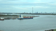 Furevik Oil / Chemical Tanker Berthed at Lakeside Essex on The River Thames. (ManOfYorkshire) Tags: furevick oil chemical tanker ship boat berthed lakeside essex river thames estuary dartford bridge docks cranes pylon transmissiontower