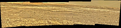 Buttes and Sky in Gale Crater, variant (sjrankin) Tags: 2september2018 edited nasa msl curiosity panorama mars galecrater sky haze butte hills terrain sand rocks