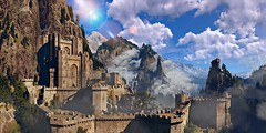 """""""Kaer Morhen."""" (Xenolith3D) Tags: witcher3wildhunt thewitcher mountain kaermorhen castle forest wood tree sky roach screenshot hd 4k pc panorama nvidiaansel nvidia virtualphotography nature photomode gamephotography light view geraltofrivia wolf fantasy geralt building fort"""