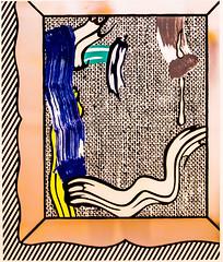 Painting on Canvas (Thomas Hawk) Tags: america bayarea lichtenstein museum paintingoncanvas roylichtenstein sfbayarea sfmoma sanfrancisco sanfranciscomuseumofmodernart usa unitedstates unitedstatesofamerica california us fav10