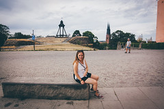 Uppsala day trip (]vincent[) Tags: ginger red head girl beautiful canon 50 mm sony 100 rx mk iv vincent portrait people me house sweden sverige trip uppsala flower field church kyrka domkyrka museum science anatomy class old castle river pretty