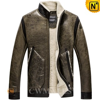 Oslo Weather | CWMALLS® Mens Retro Sheepskin Leather Jacket CW808530 [Custom Made Service]
