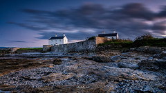 Coastguard Cottages Penmon Point (Mark Palombella Hart) Tags: sea sunset seascape lighthouse atmospheric wales anglesey photography photographer photooftheday potd photo longexposure cottages