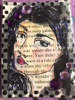 Atc with a bookpage #swapbot