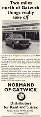 1972 Normand Of Gatwick BMW 2000 Tii English Original Magazine Advertisement (Darren Marlow) Tags: 1 2 7 9 3 19 72 1972 n nomand o of g gatwick b m w bmw t i tii c car cool collectible collectors classic a automobile v vehicle german germany e european europe 70s 20 200 2000