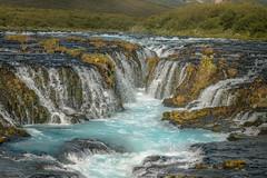 Bruarfoss, Iceland. (Maikit) Tags: iceland waterfall light river blue rocks wild green stunning carlzeissmakroplanart2100mm canon6d nature cascada salvaje leefilters