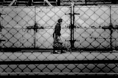 Street 551 (soyokazeojisan) Tags: japan osaka bw city street people blackandwhite monochrome analog olympus m1 om1 100mmf28 film trix memories kodak 1970s 1974