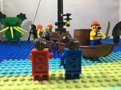 2018-262 - Talk Like A Pirate Day (Steve Schar) Tags: sea ocean cthulhu bricks brick minifigure lego island isle ship boat talklikeapirateday pirates pirate project365 iphone6s iphone sunprairie wisconsin 2018