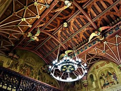 Circle of Light! (springblossom3) Tags: cardiff castle wales ceiling tourism angels wood architecture history