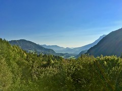 Mountain view near Breitenau, Bavaria, Germany (UweBKK (α 77 on )) Tags: landscape scene scenic scenery mountains panorama trees forest sky blue green breitenau kiefersfelden oberaudorf bavaria bayern germany deutschland europa europe iphone