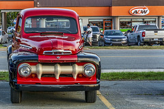 1951 Mercury pickup (or possibly 1952) (kenmojr) Tags: aw cruise cruisein carshow car auto automobile woodside novascotia canada vehicle transportation classic vintage antique summer dartmouth kenmo kenrmorrisjr 2018 1951 1952 mercury pickup truck
