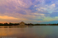 Jefferson Sunrise (Buzz and Raider) Tags: hss slidersunday jefferson tidalbasin sunrise ultrawide clouds tides