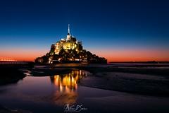 Le Mont-Saint-Michel after the sunset (tione76) Tags: mont saint michel night sunset light colors france normandy normandie bretagne tione76 nikon d7500