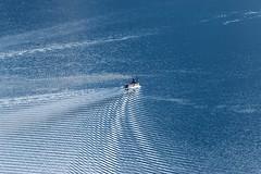 Making Waves (Heaven`s Gate (John)) Tags: tssearnslaw boat ripples lake water queenstown newzealand johndalkin heavensgatejohn cruise pattern ship steam blue 10faves waves 25faves