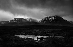 Glencoe (mpdfoto) Tags: glencoe scotland west highland way blackwhite bw tarn storm clouds mountain