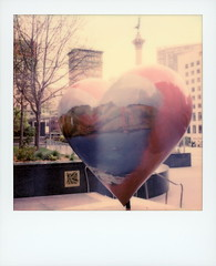 Hearts In San Francisco (tobysx70) Tags: polaroid originals color 600 instant film slr680 americas greatest city by the bay union square san francisco california ca tony bennett painter artist golden gate bridge hearts in general hospital foundation admiral george dewey monument column nike greek goddess of victory polawalk polavacation 043018 toby hancock photography