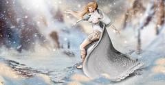 Dance with the snowflakes (meriluu17) Tags: fantasy thefantasygachacarnival dubai aii egosumaii theskinnery poseidon dance quardian princes winter snow storm people