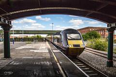 43207 XC HST Burton (deltic17) Tags: 43207 class43 hst 125 burton rail railway delayed xc crosscountry train canon bridge