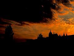 Prague | Czech Republic (maryduniants) Tags: stvitus vitus pražskýhrad hrad castle sunset europe czech czechrepublic prag praha prague red dark clouds redsky