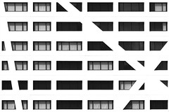 Facade X (Maerten Prins) Tags: utrecht stadskantoor cityhall gemeentehuis wall window windows pattern symmetry symmetrical geometry geometric flat x abstract blackandwhite