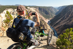Photographing the Grand Canyon of the Yellowstone from an off-road wheelchair (YellowstoneNPS) Tags: ada grandcanyonoftheyellowstone sublimepointtrail ynp yellowstone yellowstonenationalpark accessibility offroadwheelchair