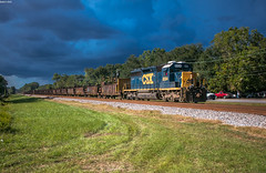 CSX W02-06 (i nikon) Tags: csx sd402 ems charleston sc work train stormy sky