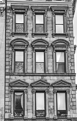 3 different pediments (albyn.davis) Tags: building nyc newyorkcity urban city architecture pediments windows manhattan usa bowery