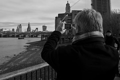 Watching me, Watching You (abnormally average) Tags: streetphotography bw london photog togger iphone cameraphone nosey southbank oxo building cityscape abnormallyaverage