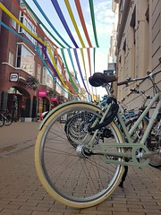 Cool bicycle (katy1279) Tags: bicyclescoolbikegroningenbannerscolourful