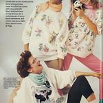 1986 Fashion Ad, Panda Fashions, Montgomery Ward, Cute Teen Models,