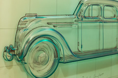 CHRYSLER AIRFLOW IN POLYURETHANE OVER LITHOGRAPH -521328- (Terry Frederic) Tags: art artsculpture automobiles canon5dmkiii canonef24105mm lightroom614processed oregon photoshop portland portlandartmuseum sharpener2013 terryfrederic usa