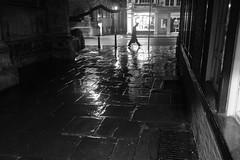 Not Quite a Ghost (Torsten Reimer) Tags: nacht night oxfordshire europa sonyrx100 walking windows lights unitedkingdom man monochrome regen england oxford fenster rain pavement schwarzweis europe uk blackandwhite gb
