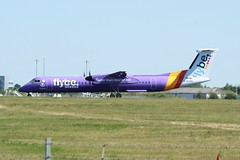 G-ECOH (IndiaEcho Photography) Tags: gecoh flybe de havilland dash eight q400 egss stn london stansted airport airfield civil aircraft aeroplane aviation essex england canon eos 1000d