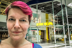 We're about to do this (Melissa Maples) Tags: antalya turkey türkiye asia 土耳其 apple iphone iphonex cameraphone summer shoppingcentre agora text sign ikea me melissa maples selfportrait woman brunette shorthair pinkhair