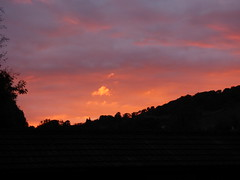 The Lake District, UK (TreeBrentish) Tags: lakes beauty sheep hills mountains landscape amateur photography sunset sky dusk contrast redsky black