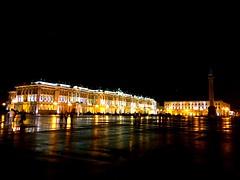 Palace square, St. Petersburg (maryduniants) Tags: yellow square black palace palacesquare stpetersburg nightlights night citylights russia