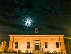 Ambler Pa (dweible1109) Tags: moon philadelphia pennsylvania sky clouds iphone nightsky