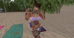 Nutmeg posing for the camera (LorenWinstead In SL) Tags: futa futanari tgirl transsexual dickgirl beach summer bulge