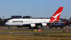 Qantas A380 (1/2) (Jungle Jack Movements (ferroequinologist)) Tags: qantas botany bay mascot sydney international kingsford smith vh oqi david warren airbus a380 singapore 34l 16r nsw new south wales australia fly flying flown trip passenger wing airborne rapid takeoff land touchdown jet airplane aeroplane aircraft journey aerial inflight landing plane airliner airport wind sky turbulence aisle window captain crew terminal gear 飞机飛行機 самолет aereo avion aerobatics squadron raaf fuselage altitude pilot navigator radar