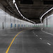 Northbound lane stripes add a finishing touch to the SR 99 tunnel