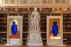 But is it Art? (Maisiebeth) Tags: blenheim klein international blue colour pantone art exhibition display sculpture palace library statue queenanne bluemen