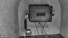 telephone funiculaire (sebastien.demotier) Tags: funiculaire ancien montdore rails auvergne france ancient vieux noir blanc black white blacknwhite