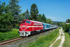 M61 001 | Balatonalmádi (Joó Ádám Gy.) Tags: máv 1972 tekergő gyors vonat train zug schnellzug balaton m61 nohab szúnyog utca