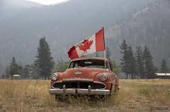 Desoto Red (Clayton Perry Photoworks) Tags: bc canada explorebc explorecanada summer smoke hedley flag old rusty desoto chrysler