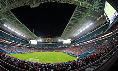 Man City vs Bayern Munich @ Miami Hard Rock (Infinity & Beyond Photography: Kev Cook) Tags: miami hard rock stadium icc soccer match football game field stands floodlights people players manchester city bayern munich club night pitch crowd 8mm samyang fisheye