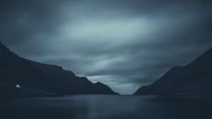 Dark Fjord II (Rene Wieland) Tags: färöer faroe faroeislands monochrome bnw blackandwhite nature natur landschaft landscape travel explore stunning water ocean coast canon6d clouds dark mountains wasser atlantic