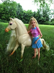 My friend Nibbles (flores272) Tags: tori barbiehorse outdoors barbie barbieclothing barbiedoll generationgirl generationgirltori pony nibbles barbiehorsenibbles