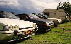 Citroën BX 19 GTi / 14 TE Custom / 19 TRI / Kip (Skylark92) Tags: nederland netherlands holland gelderland kesteren lede oudewaard citroën bx 19 gti rk55nv 1987 14 te custom xx98lv 1990 tri u9 xr10rd 1989 onk origineel nederlands kenteken kip campine k370 0274wp 1980 car road grass window bxclub kampeerweekend