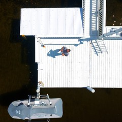Hello Down There From Up Here - IMRAN™ (ImranAnwar) Tags: aerial apollobeach beachlife blessed boardwalk boating dji dock drone florida flying home lifestyle outdoors phantom4 seasdie selfie tampabay tgif waverunner weekend whitehouse yamaha